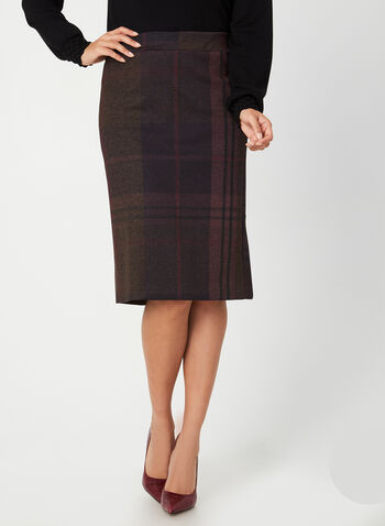 Macro Plaid Skirt, Purple,  Canada, skirt, plaid, flounce, fall 2019, winter 2019