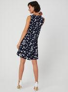 Polka Dot Print Sleeveless Dress, Blue, hi-res