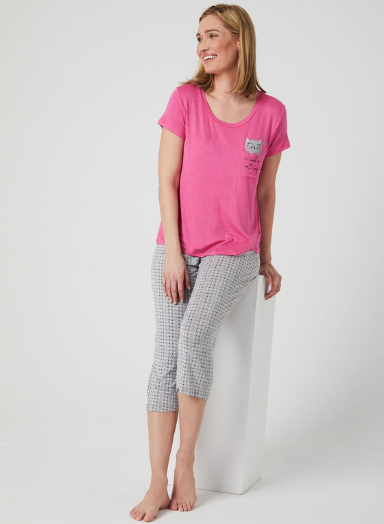 Pillow Talk - Polka Dot Pyjama Set, Pink, hi-res
