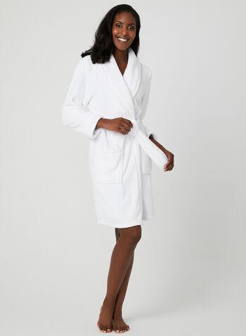 Midnight Maddie - Fleece Robe, White, hi-res