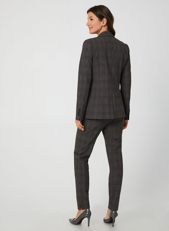 Notch Collar Blazer, Grey