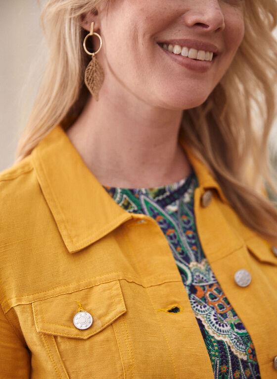 Linen Denim Unlined Jacket, Yellow