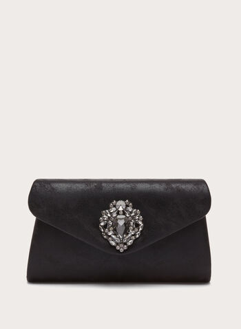 Crystal Embellished Clutch, , hi-res