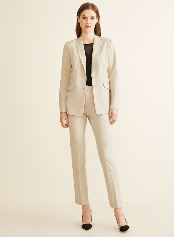 Two-Button Notch Collar Jacket, Off White