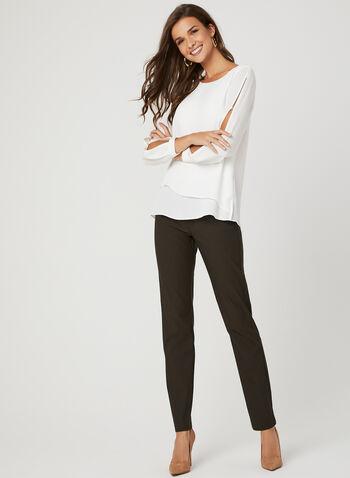 Simon Chang - Signature Fit Slim Leg Pants, Brown, hi-res