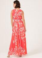 Jessica Howard - Robe maxi plissée à motif floral, Orange, hi-res