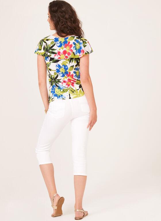 Floral Print Popover Top, Multi, hi-res