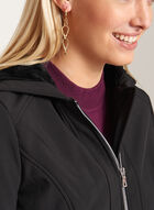 Softshell Fleece Lined Coat, Black, hi-res