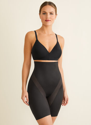Naomi & Nicole - High-Waist Cooling Shapewear, Black,  shapewear, undergarment, mesh insert, high-waist, sculpting