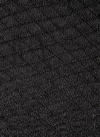 Metallic Fibre Diamond Print Wrap, Black, hi-res