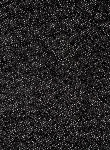 Foulard léger pailleté à losanges , Noir, hi-res