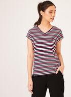 T-shirt à rayures et manches courtes , Multi, hi-res