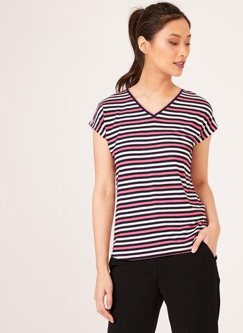 Blended Stripe Top, Multi, hi-res