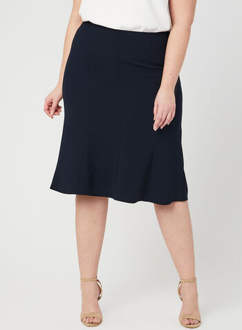 Panelled A Line Skirt, Blue, hi-res