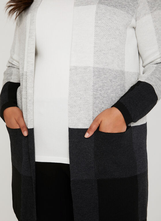 Edge-To-Edge Knit Cardigan, Black, hi-res