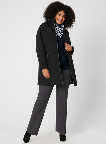 BCBGeneration - Herrington Quilt Coat, Black,  coat, quilt coat, herrington quilt, zippered coat, zipper, hood, hooded coat, fall 2019, winter 2019