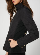 Weatherproof - Quilted Coat, Black, hi-res