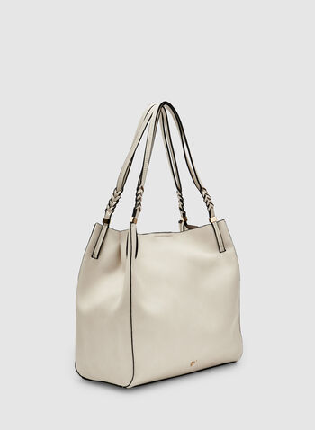 Double Handle Hobo Bag, Off White, hi-res,  faux leather, vegan, spring 2019