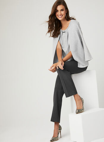 Square Neck Sleeveless Top, Grey, hi-res