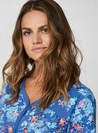 Hamilton - Floral Print Pyjama Set , Blue