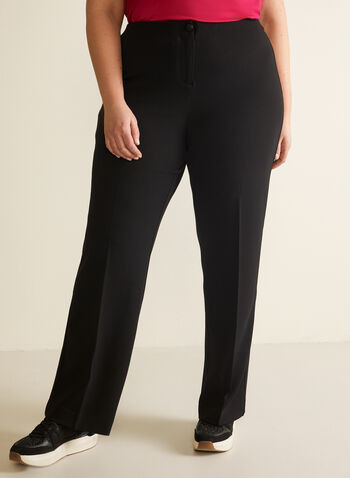 Modern Fit Wide Leg Pant, Black,  pants, wide leg, mid-rise, crepe pants, wide leg pants, modern fit, contour waist, spring 2020, summer 2020