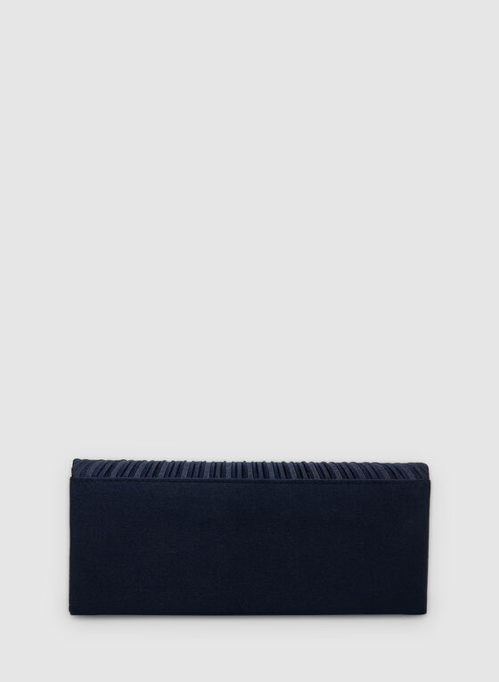 Embellished Clutch, Blue