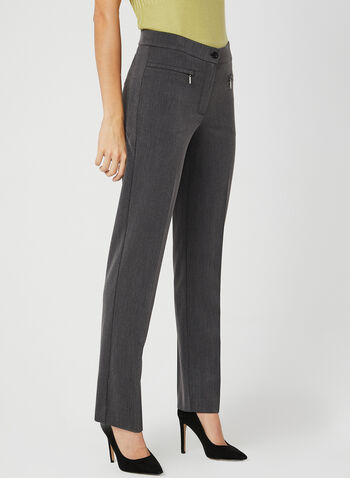 Mode de Vie - Signature Fit Straight Leg Pants, Grey, hi-res