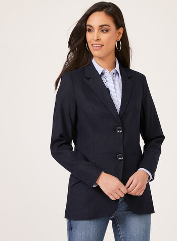 Alison Sheri - Semi Fitted Blazer, Blue, hi-res