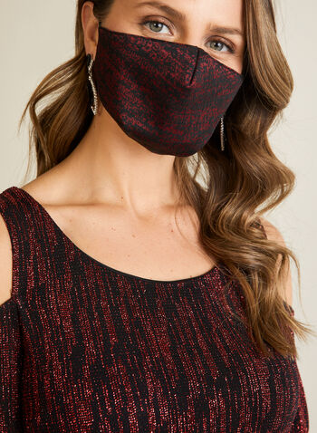 Abstract Print Mask, Red,  mask, fabric, washable, reusable, abstract, fall winter 2020
