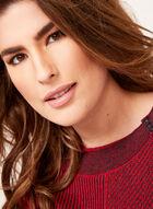 Pull en tricot contrastant avec boutons décoratifs, Rouge, hi-res
