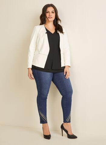 V-Neck Crepe Blouse, Black,  blouse, sleeveless, v neck, crepe, spring summer 2020
