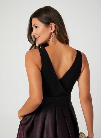 Ombré Satin Skirt Maxi Dress, Purple, hi-res,  evening gown, satin maxi dress, tulle dress