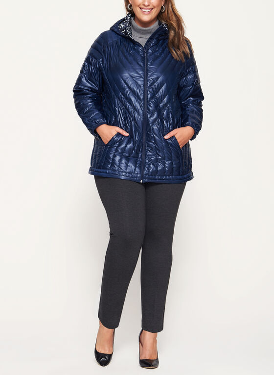 Nuage - Quilted Nylon Down Coat, Blue, hi-res