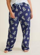 Ensemble pyjama à imprimé floral, Bleu