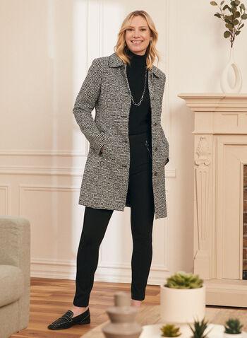 Novelti - Manteau à pois boutonné, Noir,  manteau, col chemisier, pois, manches longues, boutons, printemps été 2020