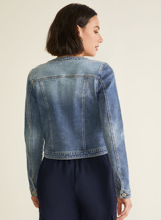 Embroidered Jean Jacket, Blue