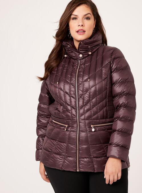 B by Bernardo - PrimaLoft® & Down Filled Packable Coat , Red, hi-res