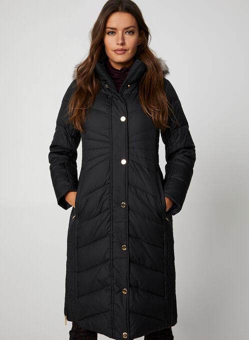 Anne Klein - Quilted Coat, Black