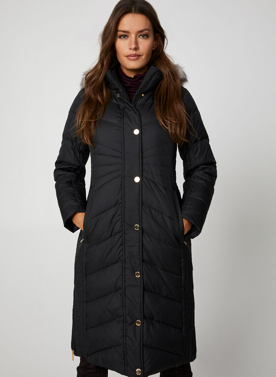Anne Klein - Quilted Coat, Black