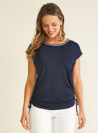 Embroidered Detail T-Shirt, Blue