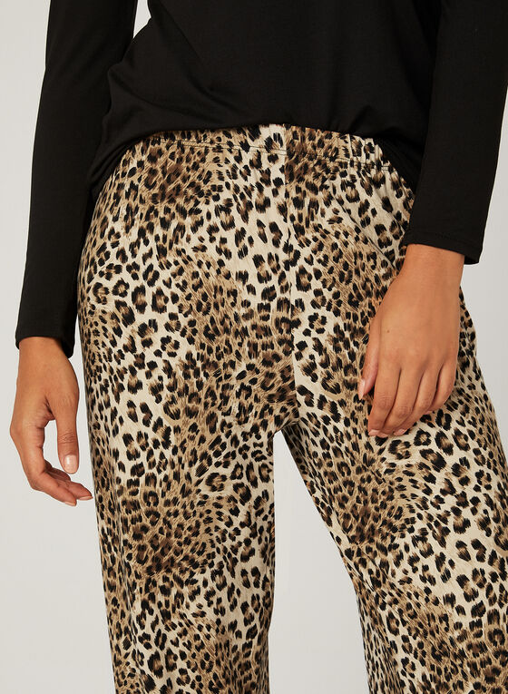 Pyjama 2 pièces motif léopard , Brun, hi-res