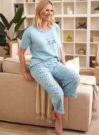Cat Print Pyjama Set, Blue