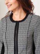 Structured Houndstooth Jacket, Black, hi-res