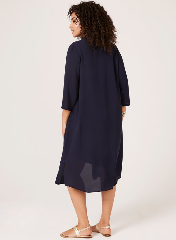 Layered Shirt Dress, Blue