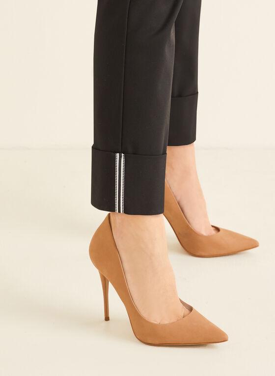 City Fit Straight Leg Pants , Black