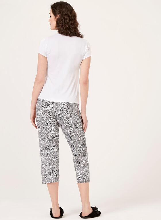 Snow Leopard Print Pajamas, White, hi-res