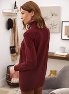 Long Sleeve Turtleneck Top, Red