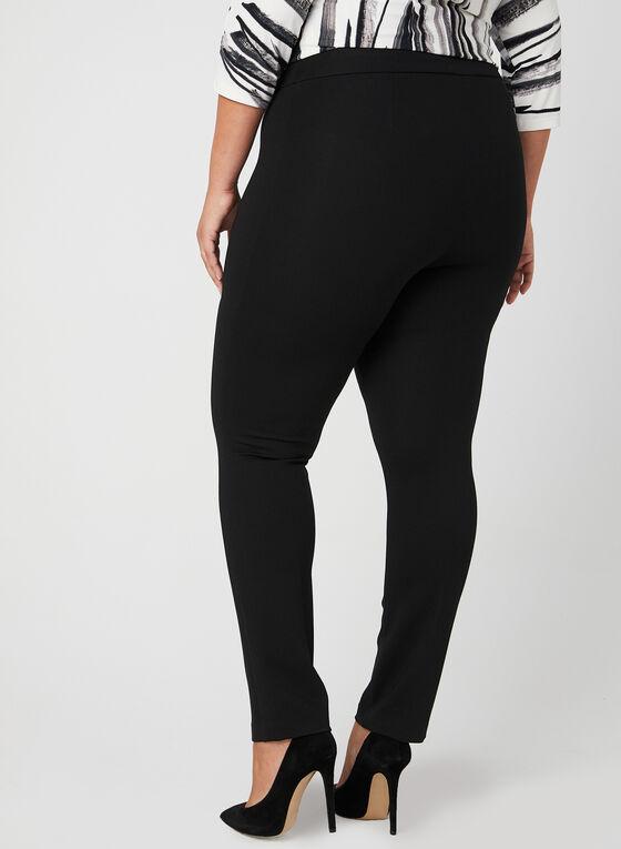 Slim Leg Comfort Fit Pants, Black, hi-res