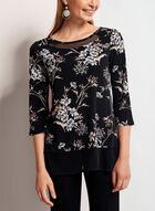 ¾ Sleeve Jersey Tunic Top , Grey, hi-res