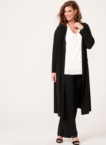 Frank Lyman - Long Open Cardigan , Black, hi-res